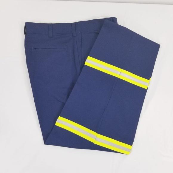 G&K services Other - Navy Blue Reflective Visibility Work Uniform Pants